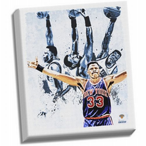 NBA New York Knicks Patrick Ewing Light Stretched Canvas Photograph, 22