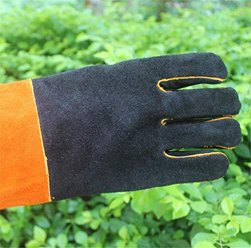 SPP PANDA BBQ Oven Microwave Oven Gloves High Temperature Resistant Electric Welding Kitchen Protection Labor Protection Glove Length 35cm by SPP PANDA (Image #4)