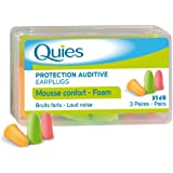 Quies Rubber Foam Ear Plugs - 3 pairs - Colour: Disco