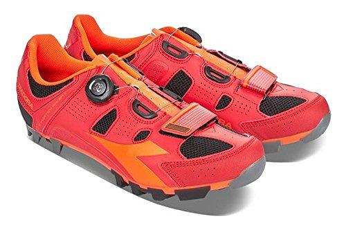 Unisex Fluo de Racing Mehrfarbig Adulto Multicolor Diadora de Zapatillas Ciclismo Carretera Racer Red X Red 6536 Vortex II SSF7ZzH