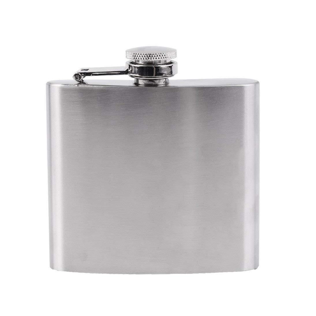 ToGames-DE New Mini Portable 5oz Edelstahl Alkohol Whiskey Wein Topf Flagon Flachmann