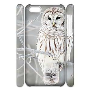LSQDIY(R) Owl iPhone 5C 3D Phone Case, Cheap iPhone 5C Hard Back 3D Case Owl