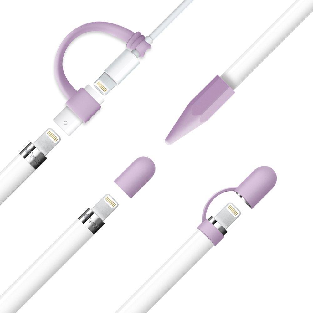 4-Pack Pencil Kappe//Pencil Spitze Kappe//Kabel Adapterhalter//Pencil Kappenhalter f/ür iPad Pro Bleistift Rot FRTMA