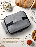 """Personal Portable Oven for Prepared Meals Reheat, Mumba 48W Electric Slow Cooker Food Warmer Oven, Takes 2-3 hours to Max Temperature 176°F, Up to 8.75""""W x 6.75""""L x 2.5""""H Container Applicable"""