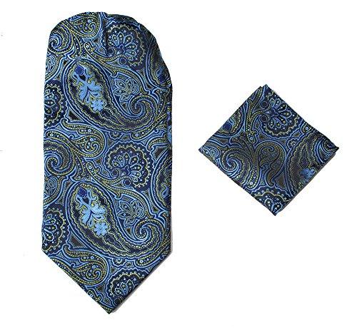 Italian Silk Teal Paisley Style Tie Various Designer Set Designs Mens Cravat amp; Scarf Neck Hanky Ascot Colours 100 Premium 0wxqztfY