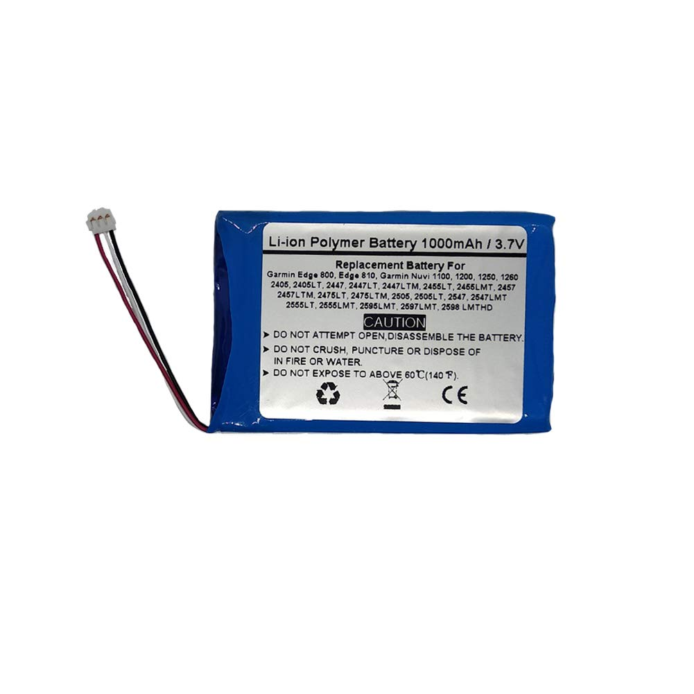 Batería para Garmin Nuvi 1100, 1200, Garmin Edge 800, 810