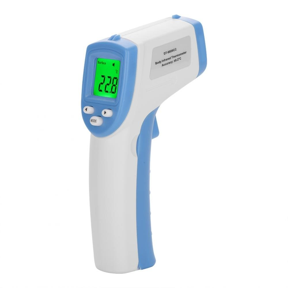 Forehead Thermometer for Fever Measurement Non-Contact Infrared Digital Medical Temperature Gun for Kids Baby Adults with Fahrenheit Celsius Settings LCD Display