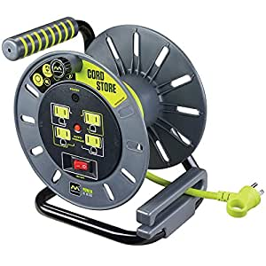 Electrical Cord Storage Reel with 4 120V 10 amp outlets