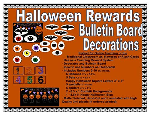 (VIP GogoKid Props Math Games Reading Bulletin Board Decoration ESL Flash Cards Ideas Teaching Props (Halloween)