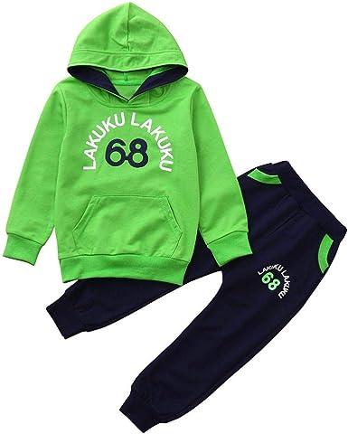 Conjuntos Bebe, ASHOP 0-4 años Niño Niña Otoño/Invierno Ropa Conjuntos, Camiseta con Mangas Estampadas LAKUKU de Mangas largas+ Pantalones: Amazon.es: Ropa y accesorios