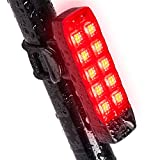 Cheap Bike Tail Light, Ultra Bright USB Rechargeable, Bicycle Flashing Rear taillight, LED Safety Warning Strobe Head Light, IPX4 Waterproof Fits on Any Road Bikes, Helmet and Sport Back Pack