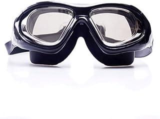UYHGY Lunettes De Natation Plat Grand Cadre Anti-buée Crystal Clear Vision Et Miroir Fit Fit Confortable Et Anti-UV Équipement De Sport 1 Pack