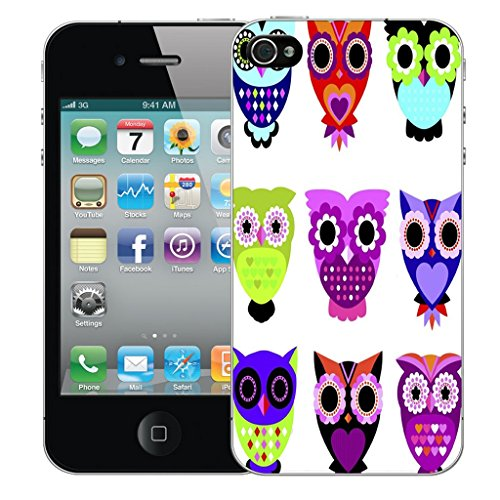 Mobile Case Mate iPhone 5c Silicone Coque couverture case cover Pare-chocs + STYLET - Owl Family pattern (SILICON)