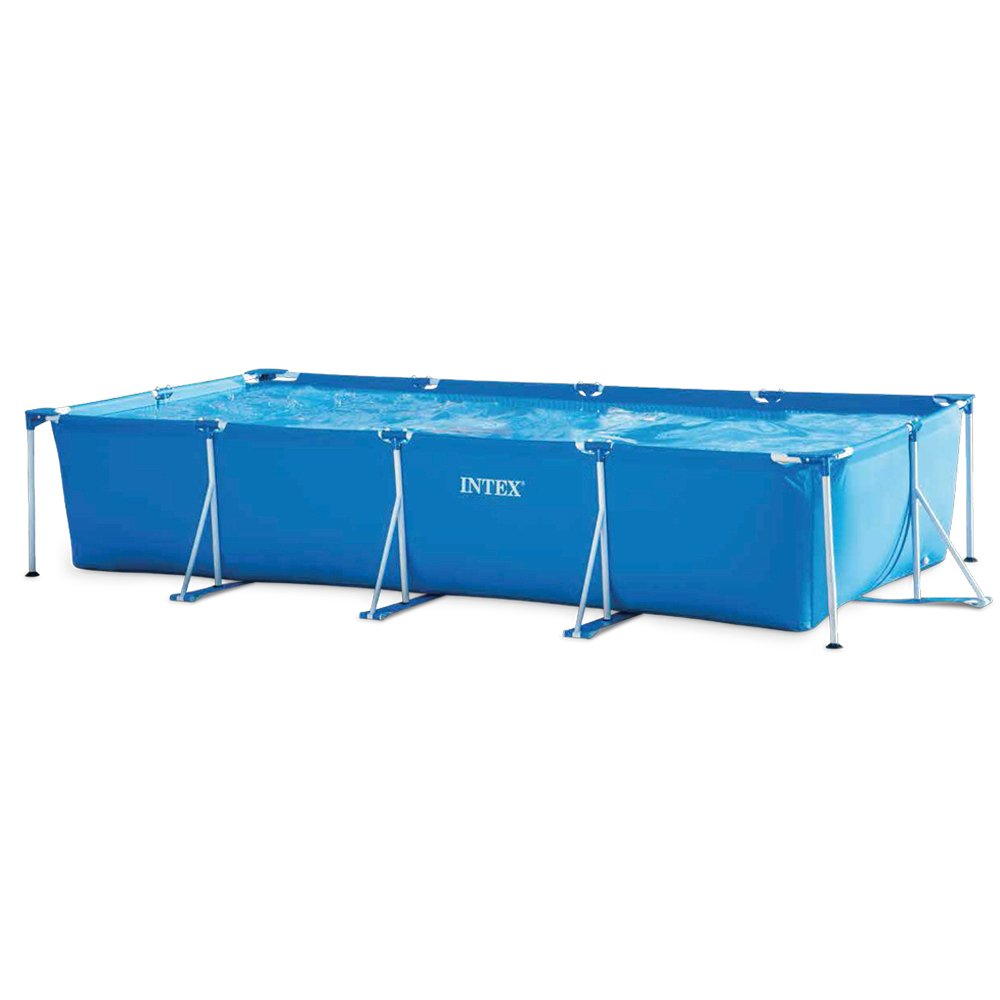Intex 28273NP 177.25in x 86.625in x 33in Rectangular Frame Pool - Blue Intex Industries(Xiamen) Co. Ltd. K19253