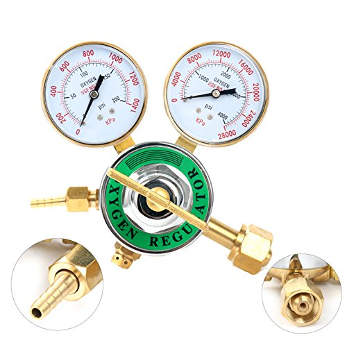 Yaetek Oxygen Regulator Harris Type Large Tank Gauge Cutting Torch Regulator Outlet 0-200PSI Inlet 0-4000PSI CGA 540 (Type Regulator)