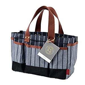 Burgon & Ball Sophie Conran Garden Tool Storage Bag Holder with 8 Pockets | 100% Cotton | Water-Resistant Coating | Wipe…