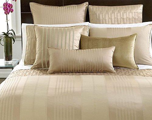 Hotel Collection Bedding, CLASSIC STRIPE Velvet 16x24'' Decorative Pillow, Champagne