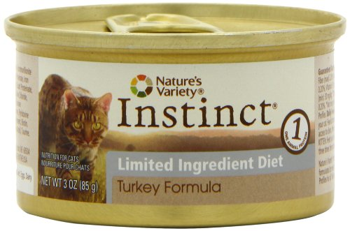 Nature's Variety Instinct Limited Ingredient Diet Turkey Canned Cat Food, 3 Ounce (Pack of 24), My Pet Supplies