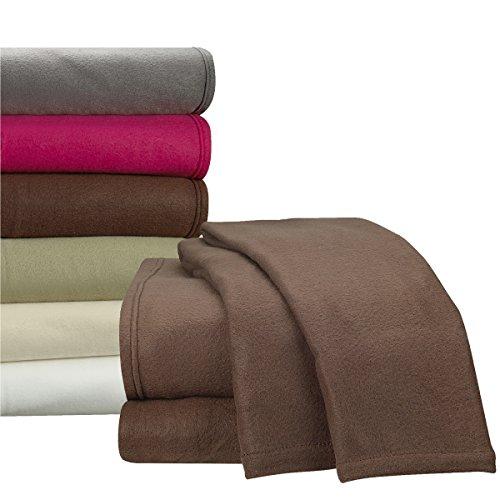 Clara Clark Micro Polar Fleece Bed Sheet Set, Queen Size,...