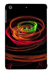 Christmas Gift - Tpu Case Cover For Ipad Mini/mini 2 Strong Protect Case - Light Rings Design