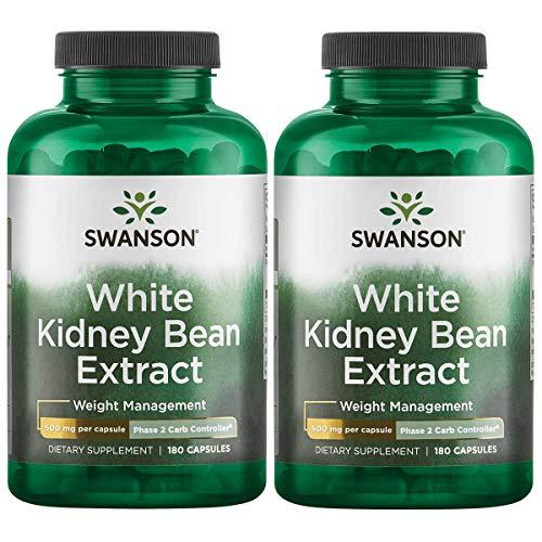 - Swanson White Kidney Bean Extract 500 mg 180 Caps 2 Pack