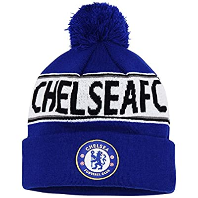 Official Soccer/Football Merchandise Adult Chelsea FC Text Winter Beanie Hat