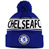 Official Soccer/Football Merchandise Adult Chelsea FC Text Winter Beanie Hat (One Size) (Royal Blue/ White)