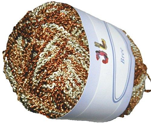 Boucle Polyester Yarn (3 balls/150 g Gold Bree Boucle Yarn 703)
