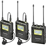 Saramonic UwMIC9 96-Channel Digital UHF Wireless Dual Lavalier Microphone System, Includes 2x TX9 Bodypack Transmitter and RX9 Portable Receiver