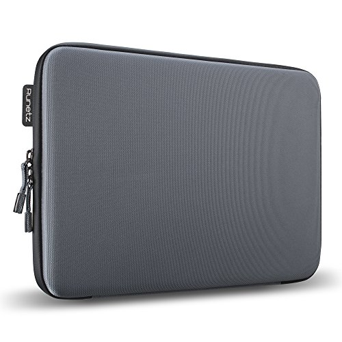 """Runetz - 15"""" GRAY Hard Sleeve for MacBook Pro 15.4"""" with or"""