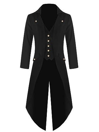 99c869033ccd Amazon.com: Mens Steampunk Victorian Jacket Gothic Tailcoat Costume Vintage  Tuxedo Viking Renaissance Pirate Halloween Coats: Clothing