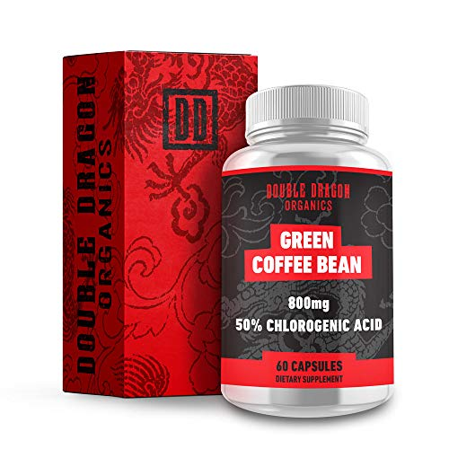 Double Dragon Organics :: Green Coffee Bean Extract - Energy Booster (30 Servings) :: 800MG | 50% Chlorogenic Acid :: 60 Capsules :: Natural, Pure, and Gluten Free