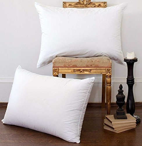 NP luxury White Goose Down Bed Pillows,100% Egyptain Cotton Cover,1200TC,Hypoallergenic,,Bed pillows for Sleeping