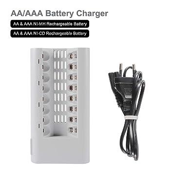 Tutmonda Cargador LED rápido Inteligente para AA AAA Ni-MH ...
