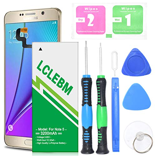 Galaxy Note 5 Battery, [3200mAh] Note 5 Battery Li-Polymer Battery Replacement for Samsung Galaxy Note 5 SM-N920 N920A, N920T, N920P, N920V, with Free Repair Tools [24 Months Warranty]