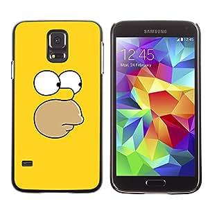 SAMSUNG Galaxy S5 V / i9600 / SM-G900 , Radio-Star - Cáscara Funda Case Caso De Plástico (Yellow Face)