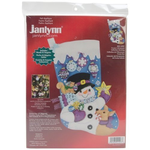 Janlynn Felt Applique Frosty's Ornament Collection Christmas (Janlynn Christmas Cross Stitch)