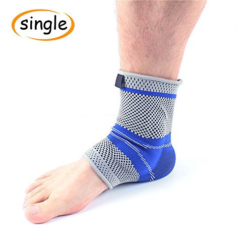 Ankle Sleeve Compression Ankle Socks with Arch Support Foot Sleeve for Sports Running Plantar Fasciitis Sock Relief Joint Pain Ankle Swelling for Men and Women - Sleeve With Gel by Geyi