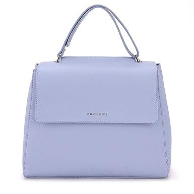 6af36f23851d6 Orciani Handtasche Sveva Medium aus lila genarbtem Leder  Amazon.de ...
