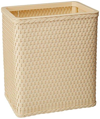 Ivory Wastebasket (Lamont Home Carter Rectangular Wastebasket, Ivory)
