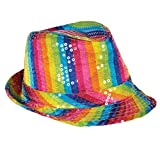 RAINBOW SEQUINED FEDORA, Case of 48