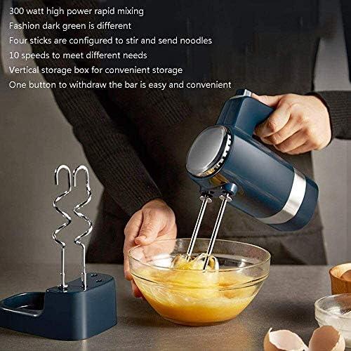 Electric Stand Mixer Hand Cake Mixer 300W 10 Speed Eten Blender Inclusief Kloppers Deeghaken for Kitchen Baking Mini Egg Cream Eten Beater