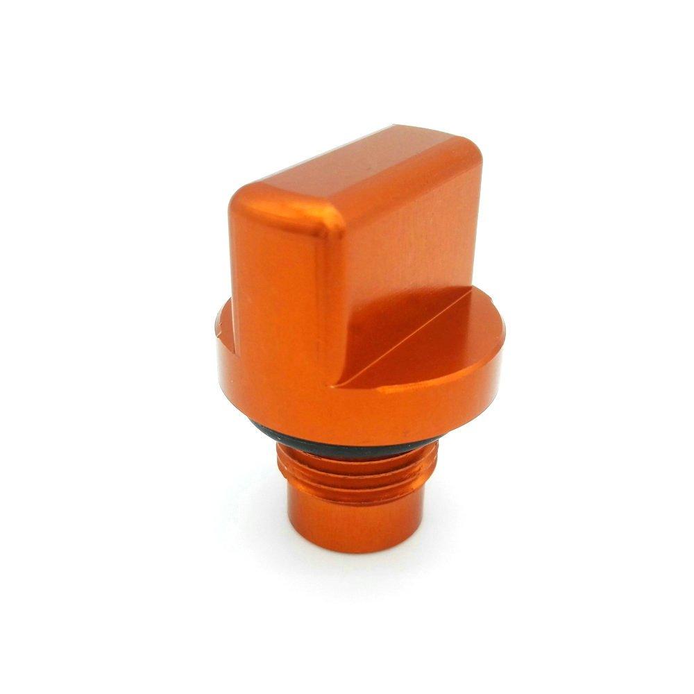 Heinmo Motorcycle CNC Aluminum Engine Oil Plug For KTM DUKE 125/200/390 13-15 (Orange) Heinmo Plus