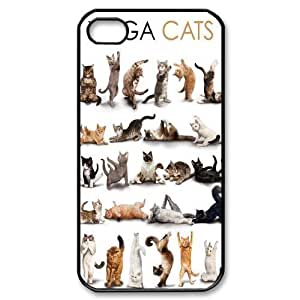 Yoga Cats New Fashion DIY Phone Case for Iphone 4,4S,customized cover case ygtg573075
