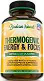 Thermogenic Fat Burner by Bradeson Naturals – 60 capsules – Weight Loss Supplement: Green Tea Extract, Caffeine, L-Carnitine, Kola Nut, L-Tyrosine, Raspberry Ketones, Yohimbe Bark – Fat Burning Pills
