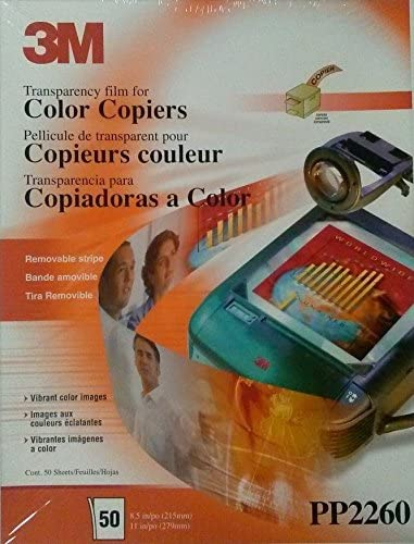 Still Sealed 3M Transparency Film COLOR Copiers PP2260 50 Sheets New