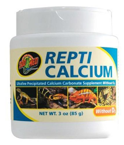 Zoo Med Calcium Without Vitamin D3 Reptile Food, (Zoo Med Reptile Food)