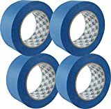Double Bond Professional Grade 14 Day Clean Release Blue Painters Tape, Blue Masking Tape, 1.88'x 60 Yrd, Pack of 4 Rolls