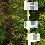 100 Pcs Plants Grafting Support Clips Silicone Garden Grafting Clips for Tomato Vegetables Flower Stem Connect