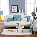 KKONION Solid Warm Plush Sofa Covers for Home Living Room Decorative Slip Resistant Sofa Slipcover Seat Combination Couch Cover